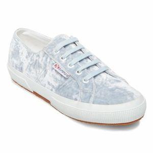 Superga crushed velvet sneakers